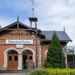 Die Bergstation der Standseilbahn in Dresden
