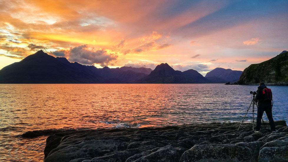 Fotograf Christian Öser auf der Isle of Skye