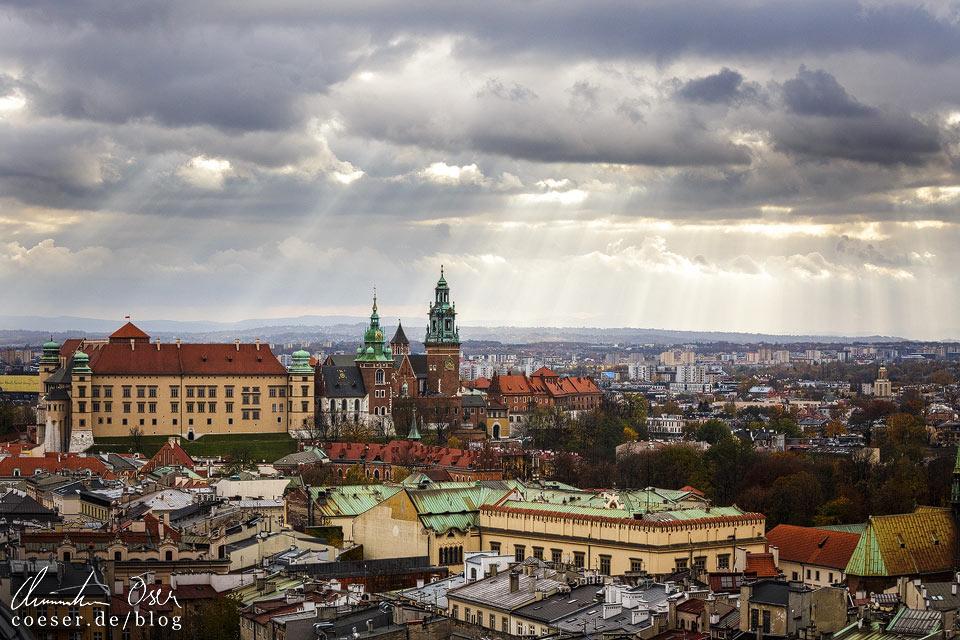 Himmelstreppen über dem Wawel in Krakau