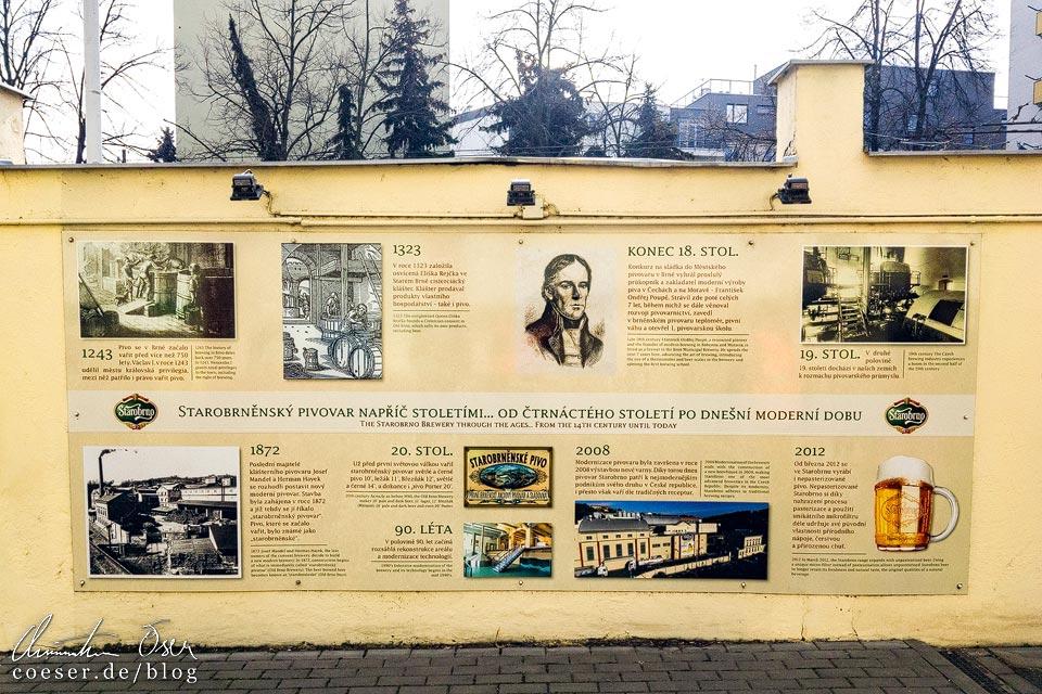 Geschichte der Brauerei Starobrno in Brünn