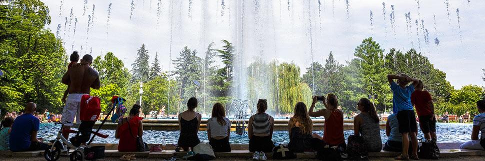 Wasserspiele auf der Margareteninsel in Budapest