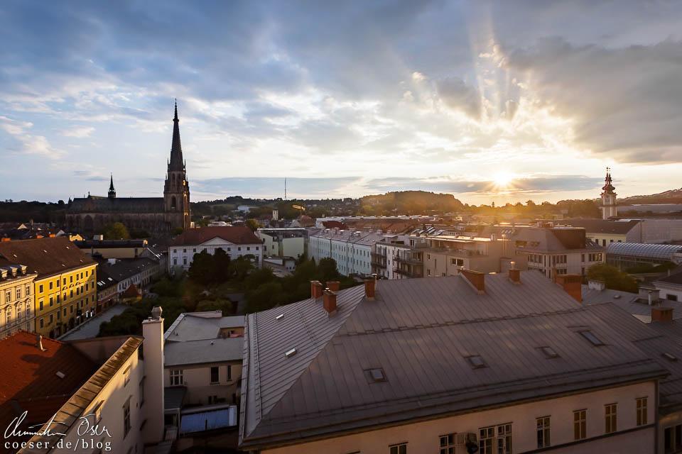 Ausblick auf die Linzer Altstadt vom Höhenrausch 2018