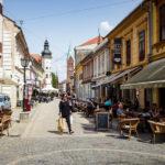 Die Gasse Slovenska ulica in der Altstadt von Maribor