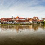 Panorama der Altstadt Lent in Maribor