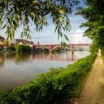 Altstadt und Brücke über die Drau in Maribor