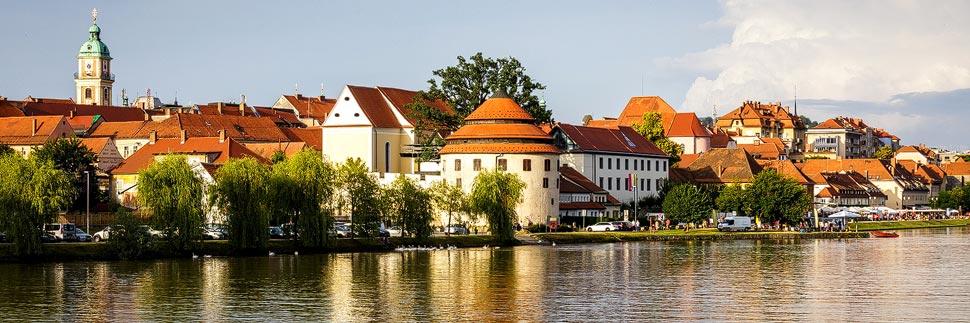 Die Altstadt am Lent in Maribor