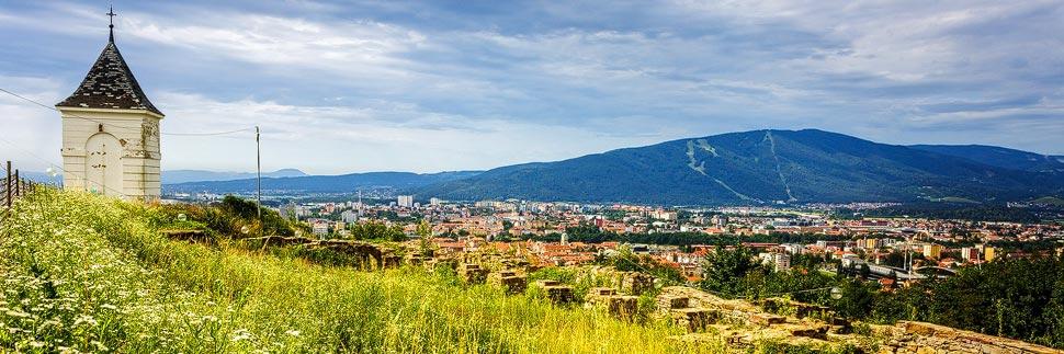 Ausblick vom Hausberg Piramida in Maribor