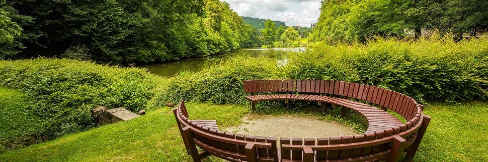 Der Stadtpark mit den drei Teichen in Maribor