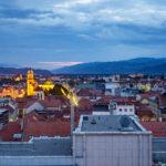 Aussicht von der Rooftop Bar Luft 360 in Maribor