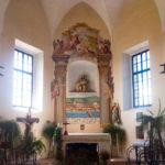 Innenansicht der Kirche der hl. Barbara und Rosalia auf dem Stadthügel Kalvarija (Kalvarienberg) in Maribor
