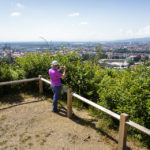 Ausblick vom Stadthügel Kalvarija (Kalvarienberg) auf Maribor