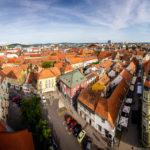Ausblick vom Glockenturm der Kathedrale auf Maribor