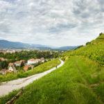 Wanderweg auf den Stadthügel Piramida (Pyramidenberg) in Maribor