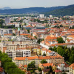 Blick vom Stadthügel Piramida (Pyramidenberg) auf Maribor