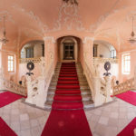 Das barocke Treppenhaus in der Stadtburg von Maribor