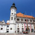 Außenansicht der Stadtburg von Maribor