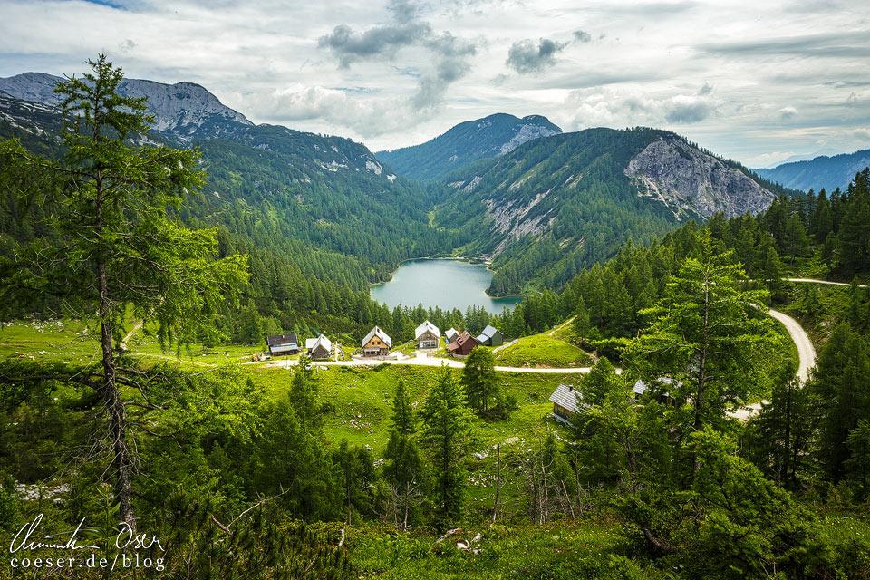 Aussichtspunkt Steirerseebankerl am 6-Seen-Wanderweg auf der Tauplitzalm