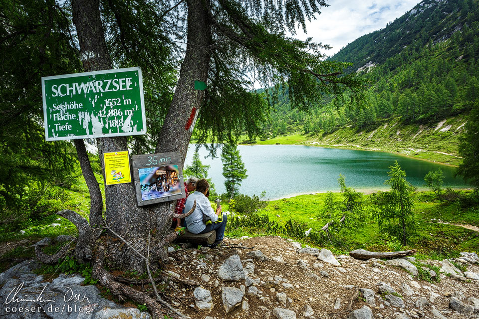 Schwarzsee am 6-Seen-Wanderweg auf der Tauplitzalm