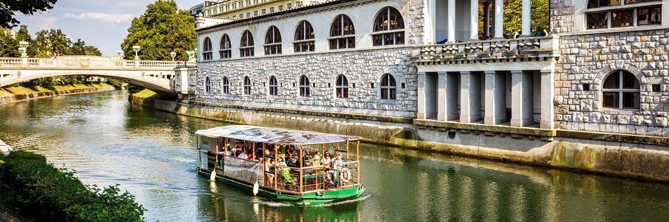 Bootsfahrt auf der Ljubljanica in Ljubljana