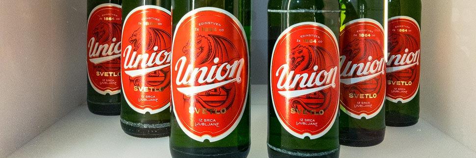 Bierflaschen der Brauerei Union in Ljubljana