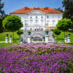 Das Tivoli-Schloss im Tivoli-Park in Ljubljana