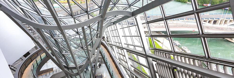 Moderne Architektur im Musée des Confluences in Lyon