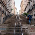 Im Lyoner Stadtteil Croix-Rousse gilt es, zahlreiche Stufen zu überwinden