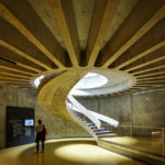 Treppe im Museum LUGDUNUM Musée & Thèâtres romains in Lyon