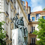 Statue von Antoine de Saint-Exupéry und dem Kleinen Prinzen nahe des Place Bellecour in Lyon