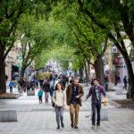 Die Shoppingmeile Rue de la Republique in Lyon
