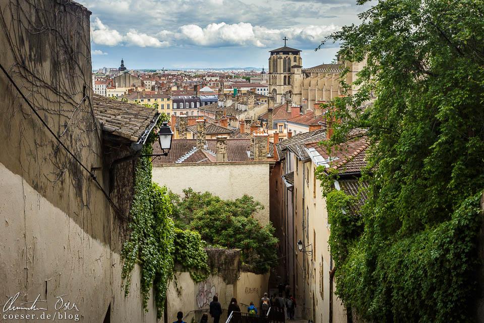 Cathédrale Saint-Jean-Baptiste und Altstadt in Lyon