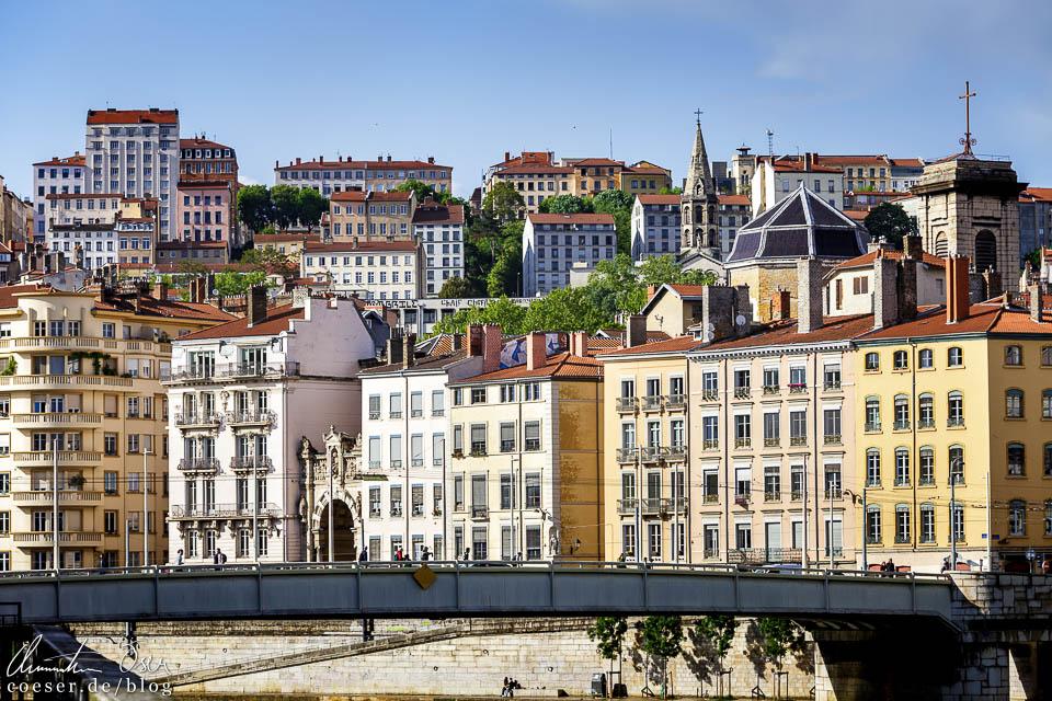 Blick auf das Stadtviertel Croix-Rousse in Lyon