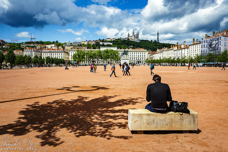 Der Place Bellecour in Lyon