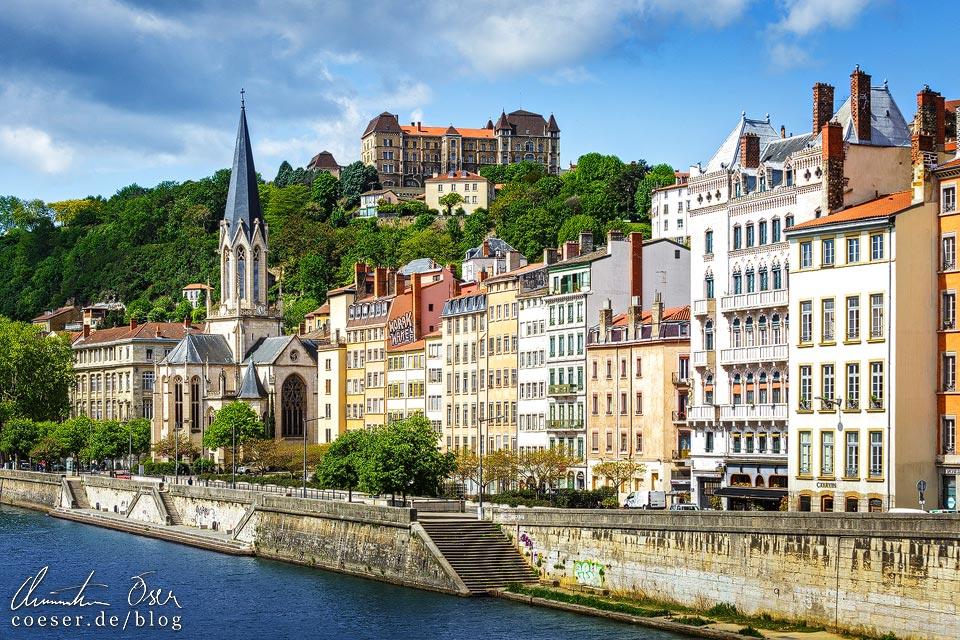 Stadtviertel Saint-Georges mit Église Saint Georges und Lycée de Saint Just in Lyon