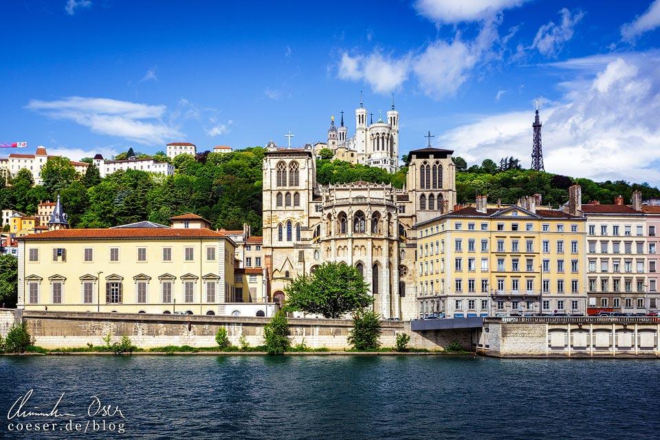 Notre-Dame de Fourvière und Cathédrale Saint-Jean-Baptiste in Lyon
