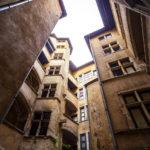 Typische Traboules in der Altstadt Vieux-Lyon