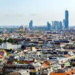 Ausblick vom Dachgeschoss des Ringturms über Wien während Open House Wien 2018