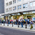 Warteschlange vor dem Ringturm während Open House Wien 2018