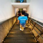 Eine der über 250 Volunteers, die während Open House Wien 2018 gut vorbereitet durch die Gebäude führten