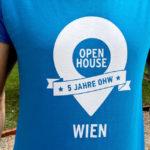 Das Jubiläums-Shirt für die Volunteers von Open House Wien 2018