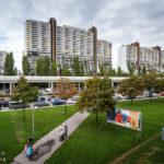 Außenansicht des Wohnparks Alterlaa während Open House Wien 2018