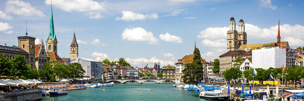 Stadtansicht von Zürich
