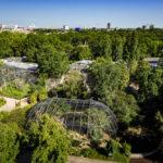 Ausblick vom Jungle-Doppelzimmer im 25hours Hotel Bikini Berlin auf den Tiergarten