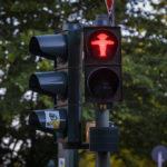 Rotes Ampelmännchen in Berin
