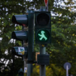 Grünes Ampelmännchen in Berin