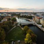 Ausblick auf Berlin und die Spree vom Kuppelgang des Berliner Doms