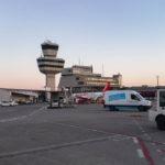 Der Flughafen Berlin-Tegel kurz vor Sonnenuntergang