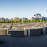 Panorama des Denkmals für die ermordeten Juden Europas (Holocaust-Mahnmal) in Berlin