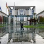 Das Bundeskanzleramt im Regierungsviertel von Berlin