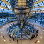 Kuppel im Reichstagsgebäude in Berlin